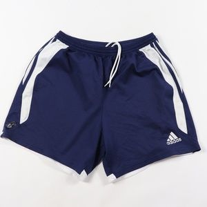 Vintage Adidas Spell Out Striped Soccer Shorts